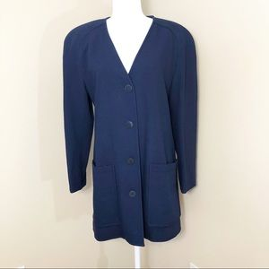 Christian Dior Vintage Long Jacket Navy - 10